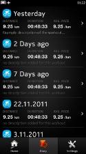 Sports Tracker N9 Diary