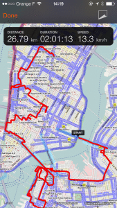 Sports Tracker OSM cycle map