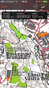 Sports Tracker Finland terrain maps