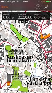 Sports Tracker Finland terrain maps