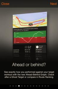 Sports Tracker - Ahead-Behind Graph