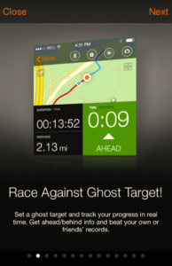 Sports Tracker - Ghost Target