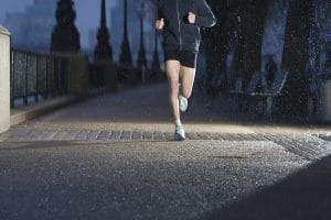 running at nighttime