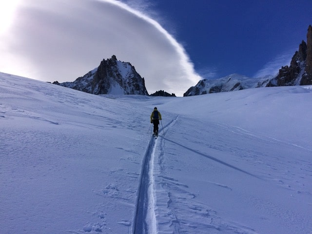 Ski touring to the sky