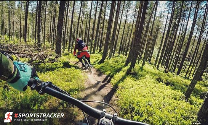 You can use Sports Tracker app to track all your cycling activities.