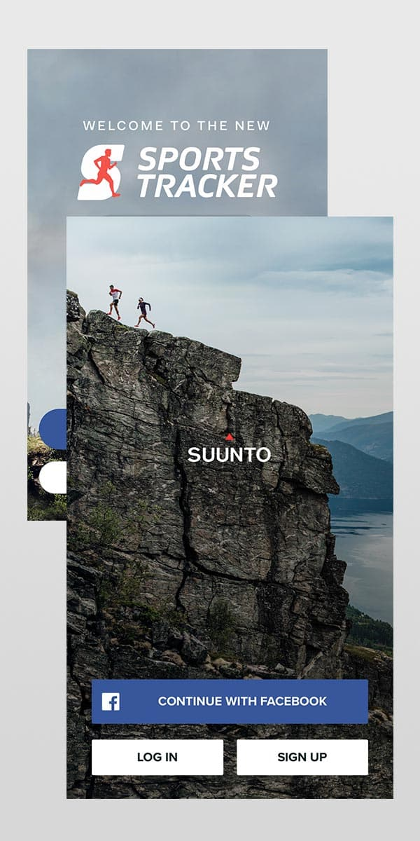 3. Login to Suunto app using your Sports Tracker username and password.