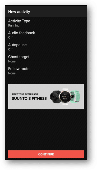 follow route screen