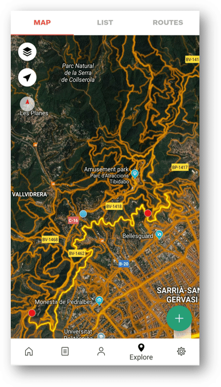 3. Now you can see the most used routes - heatmaps.