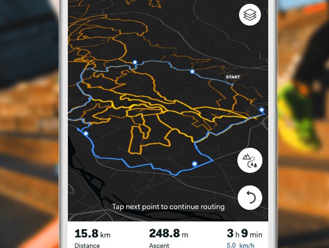 Sports Tracker routes, gpx, heatmap