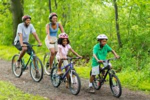 Mountain biking family Sports Tracker